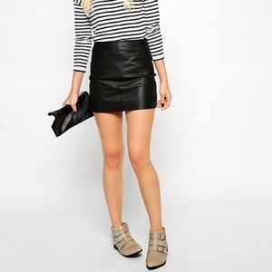 ASOS Real Leather Mini Skirt Size 4